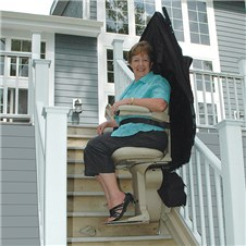 bruno SRE-2010E outside exterior stairlifts outdoors Oakland CA Jose San Francisco stairway chair staircase   stairchairs