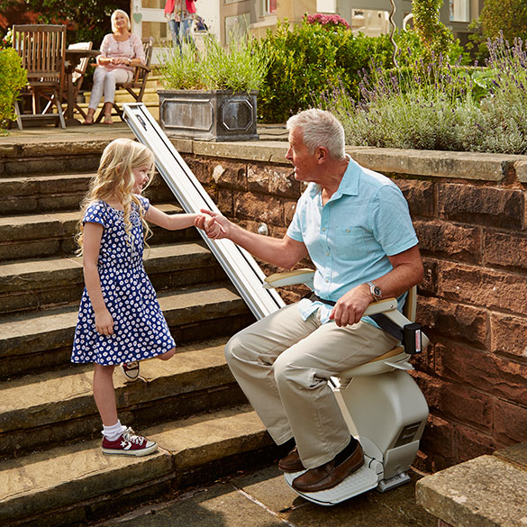 Acorn 130 Stairlift for outdoor space Outdoor Weatherproof Exterior Stairway Stair Chairs