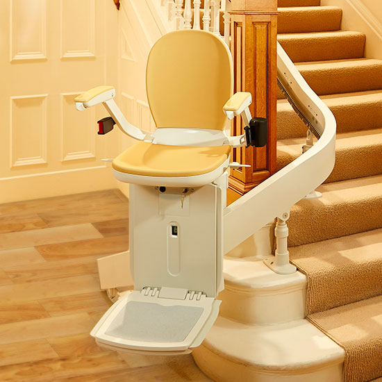 The Acorn 180 Stairlift for curved stairways