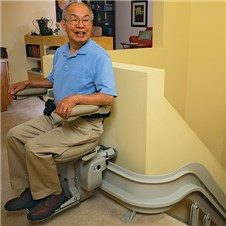 bruno CRE-2110 custom curved stair lifts Oakland CA Jose San Francisco stairway chair staircase   chairlifts